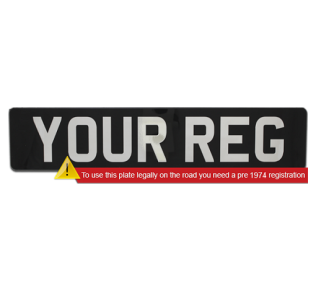 Perspex car plates