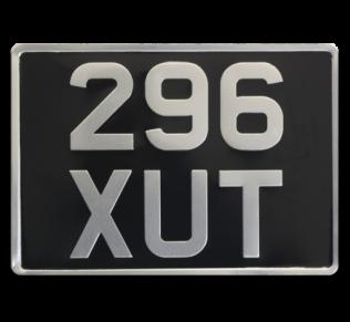 Pressed metal car plates