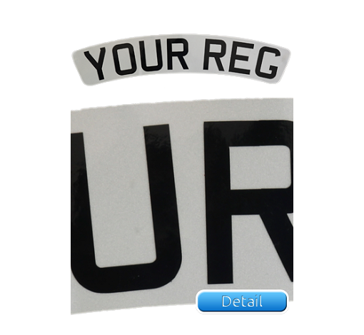 Self-Adhesive-White-Reflective-Curved-Front-Bike-Plate