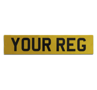 Self adhesive car plates
