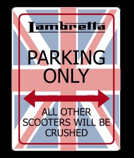 Lambretta-No-Parking-Sign