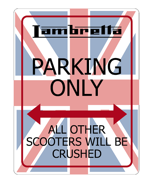Lambretta-No-Parking-Sign